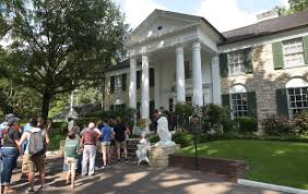 Elvis Presley Home by Elvis Presley Fans Descend On Memphis For 40th Anniversary Of The