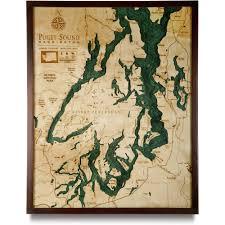 Wooden World Map Wall Art by 3d Nautical Wood Map Art Great Lakes Cape Cod Chesapeake Hawaii