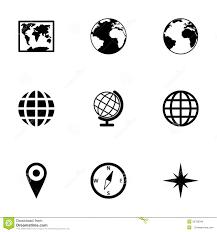 Vector World Map Vector World Map Icon Set Stock Vector Image 52798345