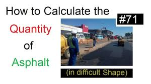 Paving Slab Calculator Design by Quantity Of Asphalt Paving Calculation In Difficult Areas In Urdu