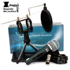microphone de bureau professionnel commutateur dynamique filaire microphone stand de