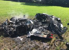 lifted ferrari ferrari driver reduces car to smouldering wreck an hour after