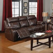 Coaster Leather Sofa Coaster Company Brown Leather Motion Sofa Free Shipping Today