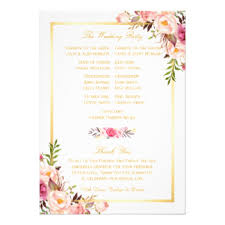 Cheap Wedding Program Fans Wedding Program Invitations U0026 Announcements Zazzle