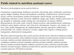 Dietary Aide Job Description For Resume by Top 10 Nutrition Assistant Interview Questions And Answers