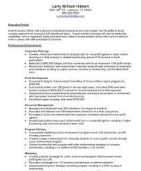 sle executive resume non profit resumes sles resume free resume images