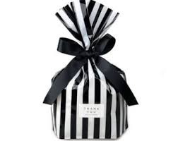 black and white striped gift bags soap plastic bag etsy