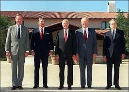 first five presidents photos five u s presidents at reagan library dedication cave news