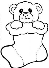 christmas bear doll coloring pages christmas coloring
