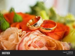 Wedding Flowers Background Wedding Rings On Red Wedding Image U0026 Photo Bigstock