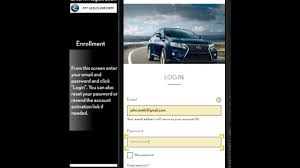lexus official website lexus enform account registration step by step youtube