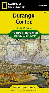 Map Of Durango Colorado by Durango Cortez National Geographic Trails Illustrated Map