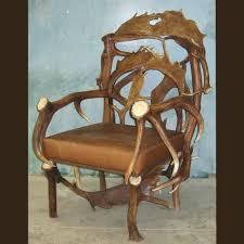 elk u0026 fallow deer antler chair