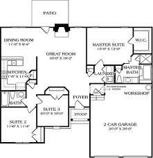 European Floor Plans European Style House Plan 3 Beds 2 Baths 1400 Sq Ft Plan 453 28