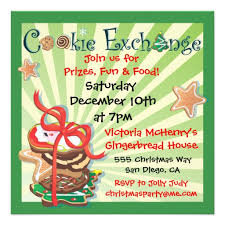 free join us for prizes and food also cookie exchange