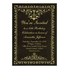 vintage 50th birthday invitations u0026 announcements zazzle canada