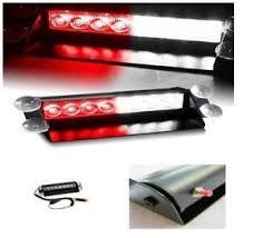 red and white led emergency lights car dashboard led emergency vehicle strobe lights fire fighter 12v