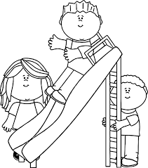 kids in the park coloring page wecoloringpage