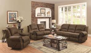 furniture leather reclining loveseat with center console small