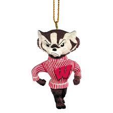 amazon com ncaa wisconsin badgers bucky mascot ornament