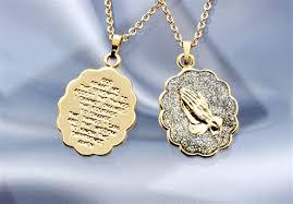 praying necklace genuine diamond praying serenity prayer necklace