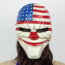 Payday Halloween Costume Payday 2 Mask Heist Joker Costume Cosplay Prop Gift Game Board