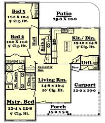 traditional style house plan 3 beds 2 00 baths 1350 sq ft plan