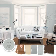Living Room Colors With Brown Furniture Light Gray Blue Paint Color Quest By Ppg Is Featured In This