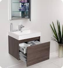 Bathroom Vanity Medicine Cabinet 23 5 Fresca Nano Fvn8006go Gray Oak Modern Bathroom Vanity W