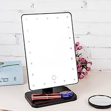 kuulee touch screen 20 led lighted makeup mirror with removable