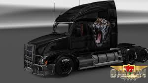 2016 volvo truck models volvo vnl 670 royal tiger skin mod euro truck simulator 2 mods
