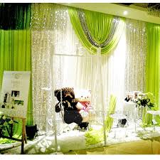 wedding backdrop green 3 3m luxury wihte wedding backdrop curtains with silver sequins