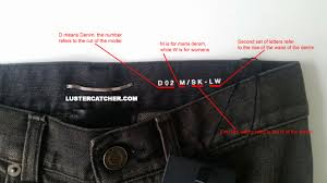 Saint Laurent Denim Codes And Sizing Guide Luster Catcher