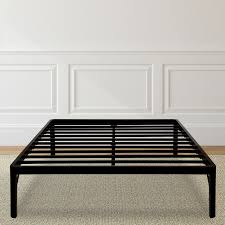 granrest 14 inch tall round edge steel slat metal bed frame queen