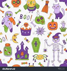 cartoon halloween images cartoon halloween seamless pattern vector illustration stock