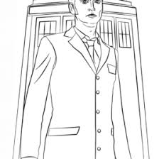 tenth doctor coloring kids drawing coloring pages