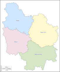 Map Of Burgundy France by Burgundy Free Map Free Blank Map Free Outline Map Free Base