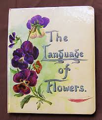 Flowers In A Book - love spoken in a book written in language of flowers auction finds