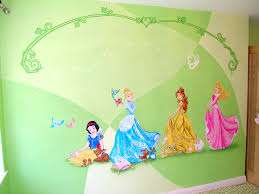 disney princesses in castle bedroom disney mural in girl s bedroom main feature wall