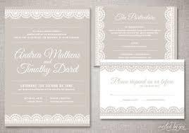 printed wedding invitations deco lace andrea wedding invitations suite