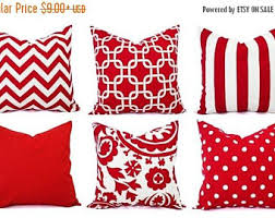 Etsy Decorative Pillows Red Throw Pillow Etsy