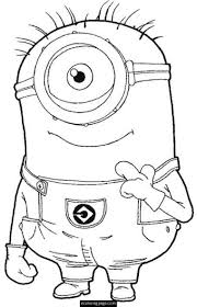 despicable me one eye minion coloring page for kids printable