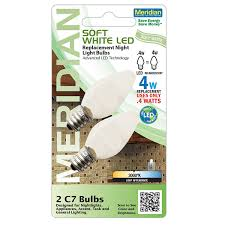 Led C7 Light Bulbs by Meridian Electric 13141 Soft White Led C7 Replacement Night Light