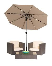 Led Patio Umbrella by Best Patio Set With Umbrella Out Of Top 21