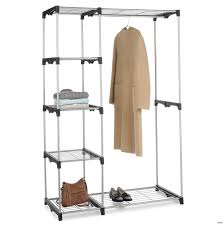 0388616322146 closet lowes portable whitmor black and chrome steel