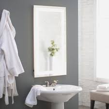 Led Backlit Bathroom Mirror Afina Illume Led Backlit Rectangular Bathroom Mirror Bathroom