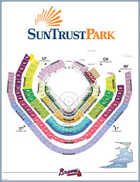Arizona Spring Training Map by Map Of Suntrust Park Seating Chart And Gate Entrances The New