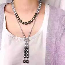 long necklace pearl images Famous brand design fashion long pearl necklace for women high jpg