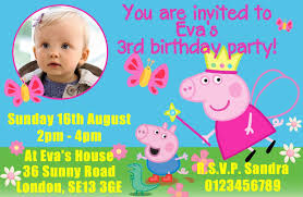 Happy Christening Invitation Card 10 Personalised Peppa Pig Birthday Party Invitations 1