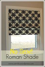 Printed Fabric Roman Shades - diy no sew faux roman shade our fifth house faux roman shades